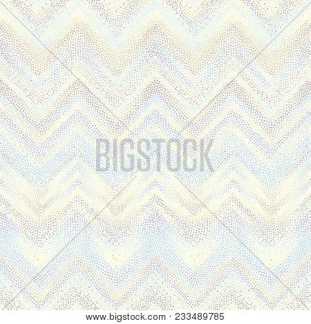 Random Polka Dot Pattern Onwhite Background. Seamless Chevron Pattern. Vector Image.