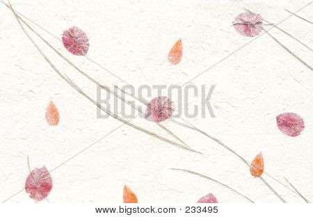 Texture Series - White Paper With Flowers