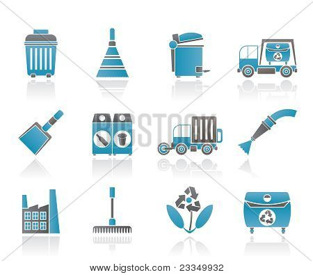 Cleaning Industry and environment Icons