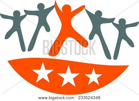 Global Leadership Teamwork Solutions Logo Design Template Isolated Icon