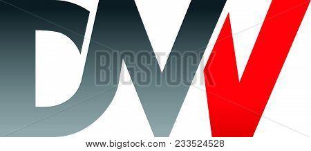 Letter D M W V Modern Logo Design Template Vector Icon