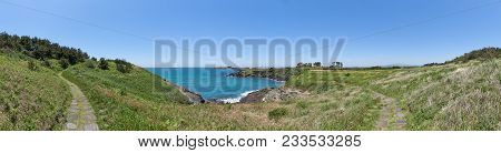 Scenery Of Course That Walk Along Hangyeong-myeon Coast Of Olle Trail Course No. 12 In Jeju Island,