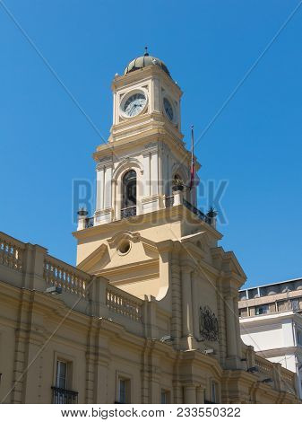The Royal Court Palace (museo Historico Nacional), On Armas Square In Santiago De Chile. Iit Is The