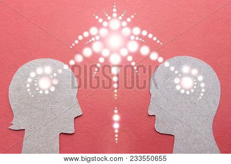 Man And Woman Silhouettes Harmony Of Relations In The Light Of Prana He And She Are Linked By Magic