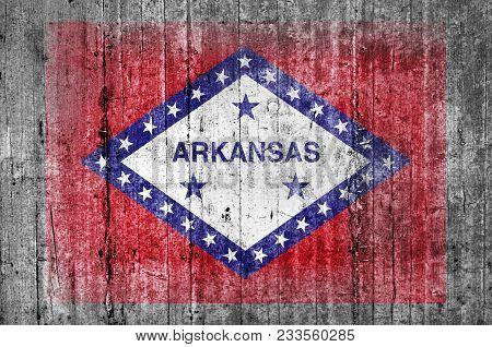 Arkansas Official Us State National Concrete Flag