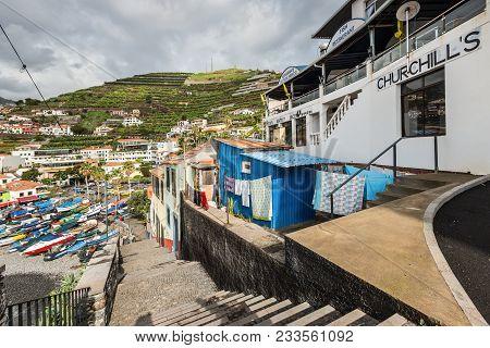 Camara De Lobos, Madeira, Portugal - December 10, 2016: Winston Churchill Was A Fan Of Madeira And S