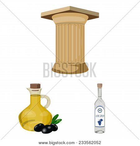 Country Greece Cartoon Icons In Set Collection For Design.greece And Landmark Vector Symbol Stock  I