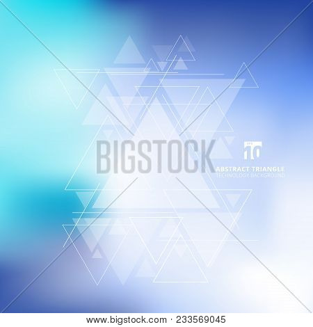 Abstract Blurred Background With Triangles Pattern Element. For Cover Book, Print, Ad, Brochure, Fly