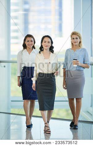 Smiling Multi-ethnic Business Team Of Three Women
