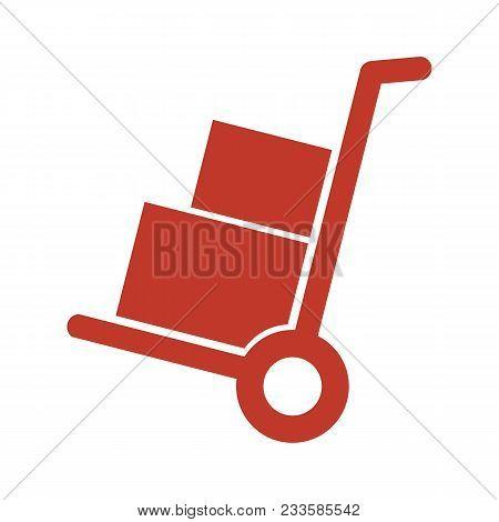 Handcart Icon On White Background. Vector Illustration