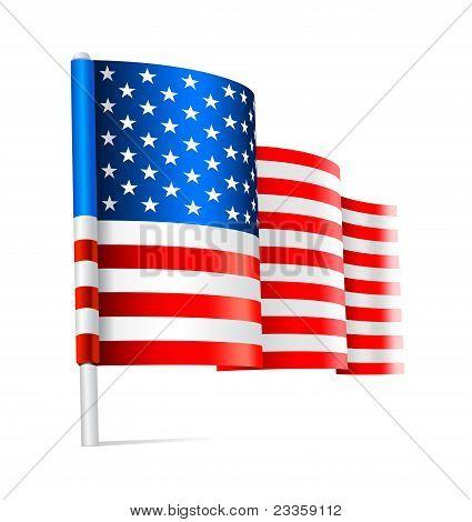 American USA flag waving