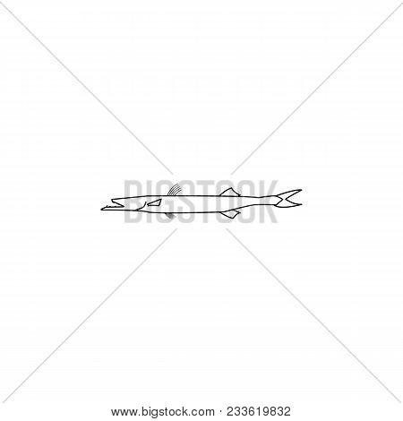 Barracuda Icon.element Of Popular Sea Animals Icon. Premium Quality Graphic Design. Signs, Symbols C