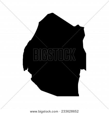 Territory Of Swaziland. White Background. Vector Illustration