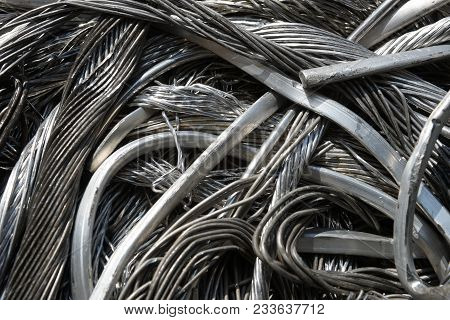 Pile Of Junk, Wire, Metal Trash For Scrap