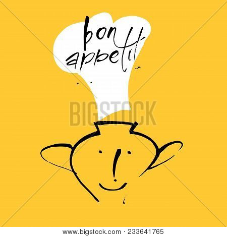 Restaurant Menu Template. Bon Appetit. Vector Illustration.