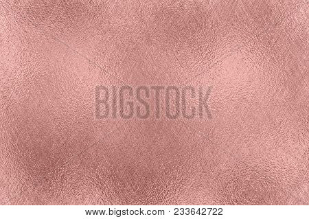 Abstract Metallic Background. Rose Gold Foil Texture.