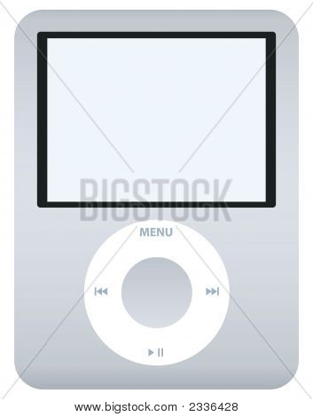 Grey/Silver Music Player