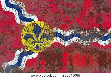 Saint Louis City Smoke Flag, Missouri State, United States Of America