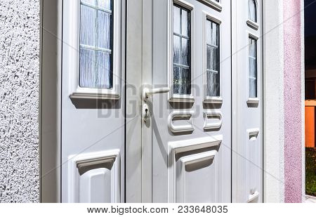 Front Door Pvc, White  Upvc Plastic Door