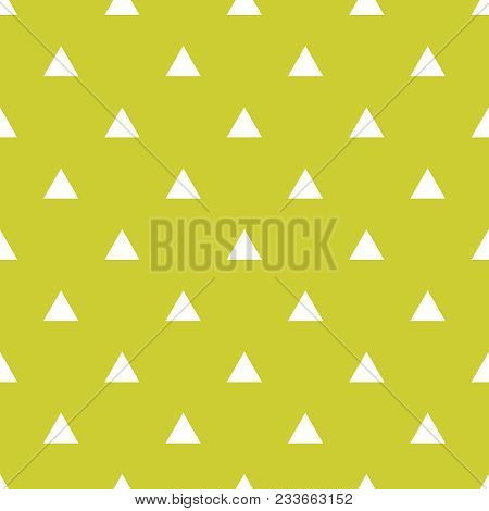 Tile Vector Pattern With White Triangles On Green Background