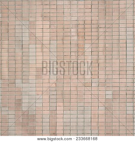 Old Soviet Beige Wall Tiles. The Texture Of The Classical Outer Tile, Which Was Revetted By Building