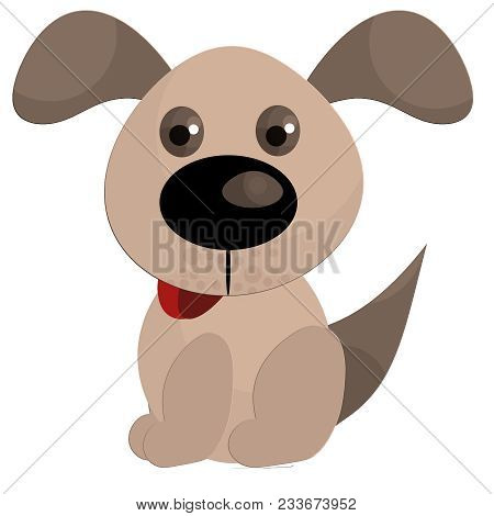 A Puppy Illustration On A White Background.