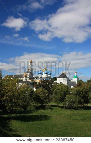Russia, Moscow region, Sergiev Posad. Holy Trinity St. Sergius Lavra. Panorama. poster
