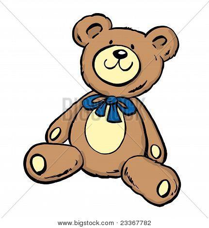 Cute Teddy Bear Sitt#43Fa9A.eps