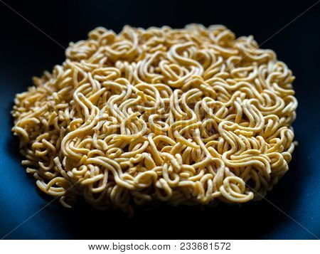 Instant Noodles - Close Up Instant Noodles In The Bowl