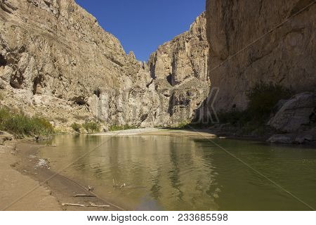 The Boquillas Canyon In Big Bend National Park, Texas. The Canyon Was Formed By The Rio Grande, And