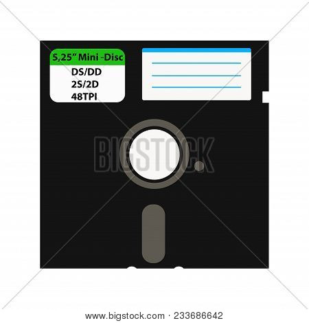 The Floppy Disk In The 5.25-inch Is Used In Older Computers. It Can Be Used As A Symbol Of The Histo