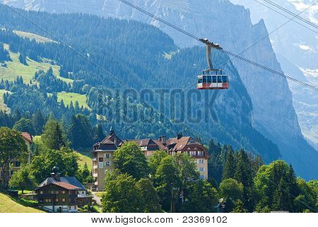 Gondola Over Wengen, Switzerland