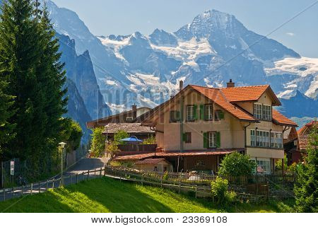 House In Wengen, Switzerland