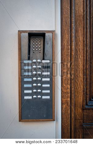 Door Entry Security System Outside Building Entrance