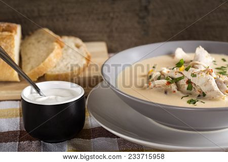 Ciorba Radauteata - Traditional Romanian Chicken Soup With Sour Cream