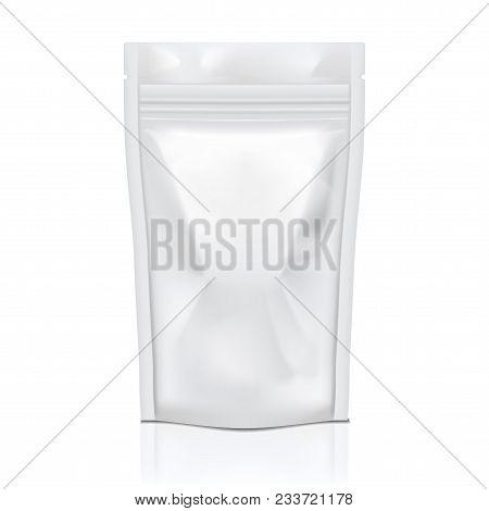 Realistic Blank Flexible Pouch Snack Sachet Bag