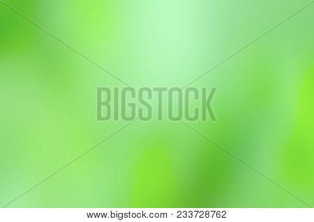 Blurred Green Leaves Bokeh Abstract Background