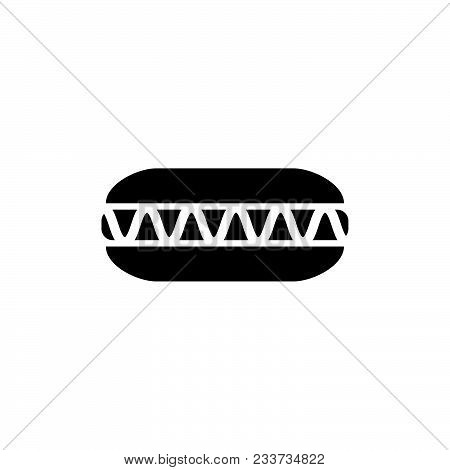 Blow Dryer . Hair Dryer Icon Black Color In Circle Vector Illustration