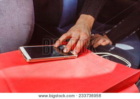 Anti Theft System Problem Concept. Burglar Thief Man Wearing Black Clothes Breaking Into Car, Steali