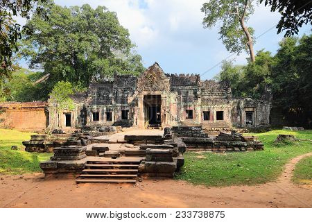 Preah Khan - Khmer Temple Ruin In Angkor Thom, Cambodia. Unesco World Heritage Site.
