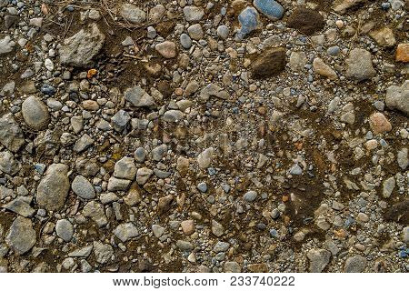 Rock Background. Stony Soil. Earth Texture. Nature Background. Ground And Stones. Abstraction