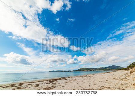 Clouds Over Alghero Shoreline In The Springtime. Sardinia, Italy