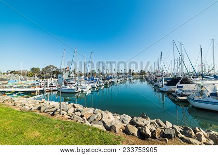 Blue Sky Over Oceanside Harbor. Southern California, Usa