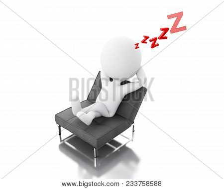 3D White People Tired