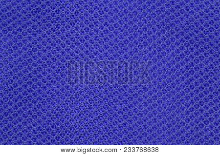 Close Up Of Blue Textured Synthetical Background