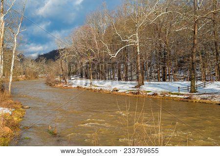 High Water Creek In Winter