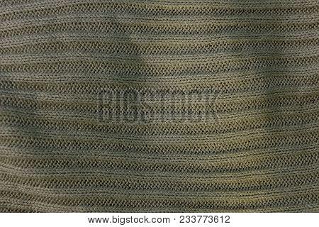 Gray Green Texture Of Crumpled Cloth Clothes