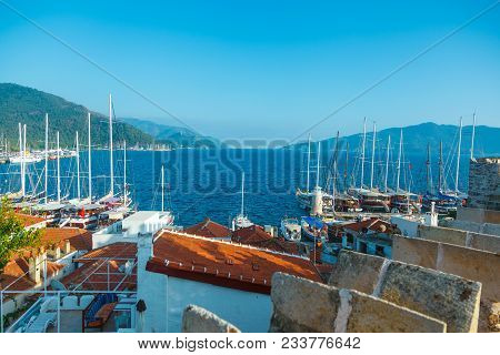 View To The Buildings Of The Marmaris Resort Town In Marmaris, Turkey.