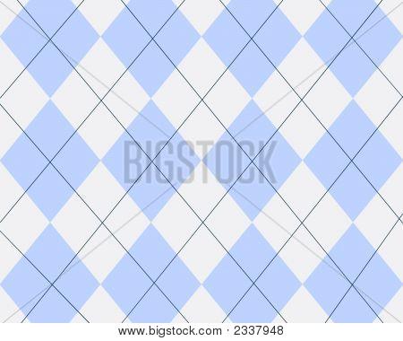 Blue And White Argyle Design