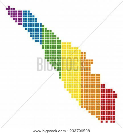 A Dotted Lgbt Sumatra Island Map For Lesbians, Gays, Bisexuals, And Transgenders. Vector Geographic